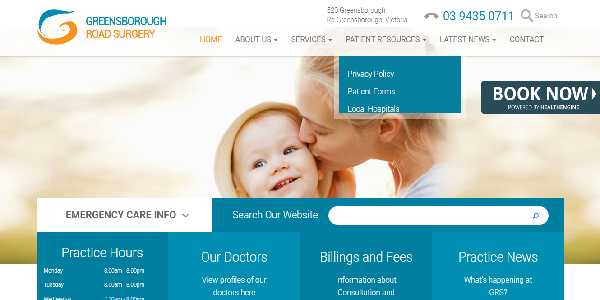 Website Design which resembles a mother and child sharing their love with each other.
