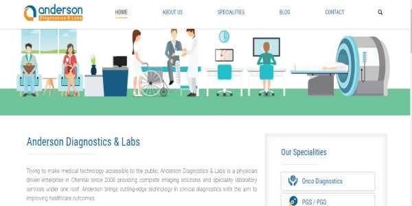 Image shows the Slider Design of  Anderson Diagnostics Website